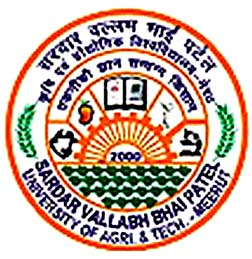 Sardar Vallabhbhai Patel University of Agriculture and Technology Recruitment 2017 - Apply For 01 Young Professional Post